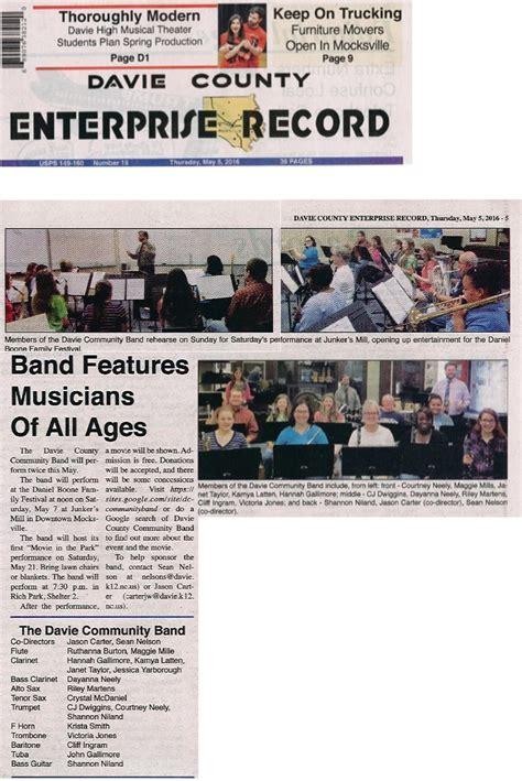 Davie County Records Davie County Community Band