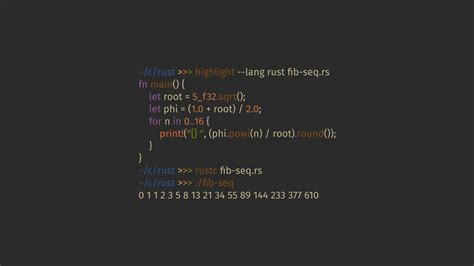 #rust, #programming, #code, #Fibonacci sequence, #syntax ... C- Programming Wallpaper