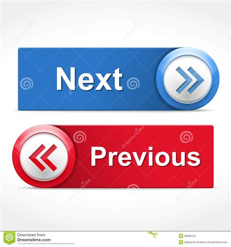 Previous Next | next and previous buttons royalty free stock photo image