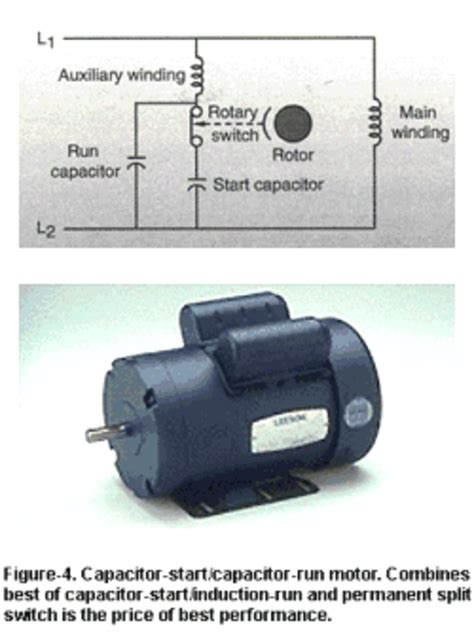 capacitor start capacitor run motor chion compressor