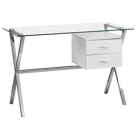 Modern Desks Wiltz White Desk Eurway Furniture Modern Glass Desk With Drawers
