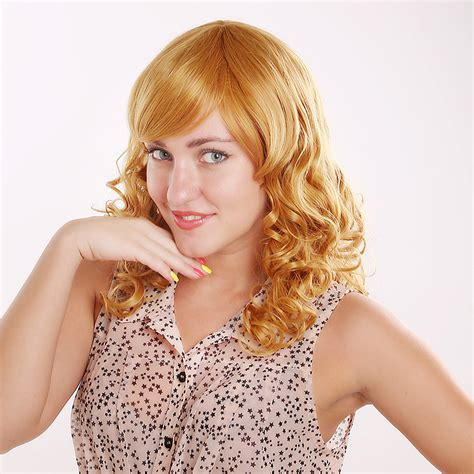 new ecle hair style in europe 2014 new style long curly hair wig blonde reality tv