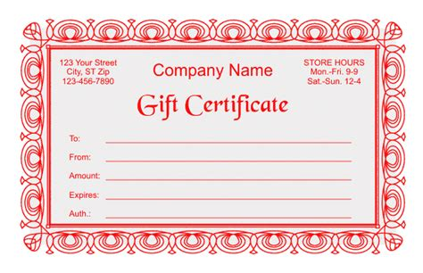 Gift Certificate Template 2 Gift Certificates Templates