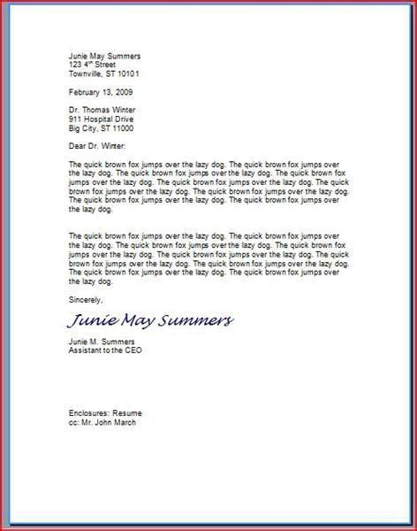 layout professional letter how to type a professional letter business letter format