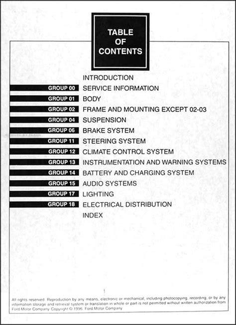 old car manuals online 1997 ford aerostar engine control 1997 ford aerostar owners manual