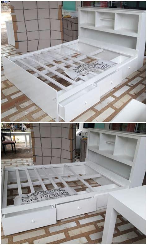 Tempat Tidur Minimalis Warna Putih tempat tidur laci warna putih paling nyos dengan bahan