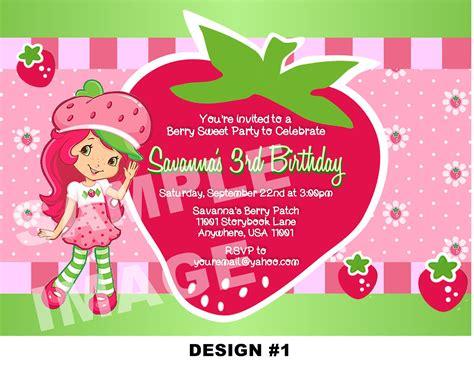 Free Printable Strawberry Shortcake Birthday Party Invitations Free Invitation Templates Drevio Strawberry Shortcake Invitation Template Free