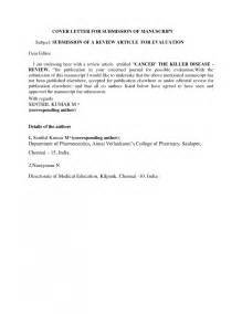 Article Cover Letter sle cover letter for journal article windows