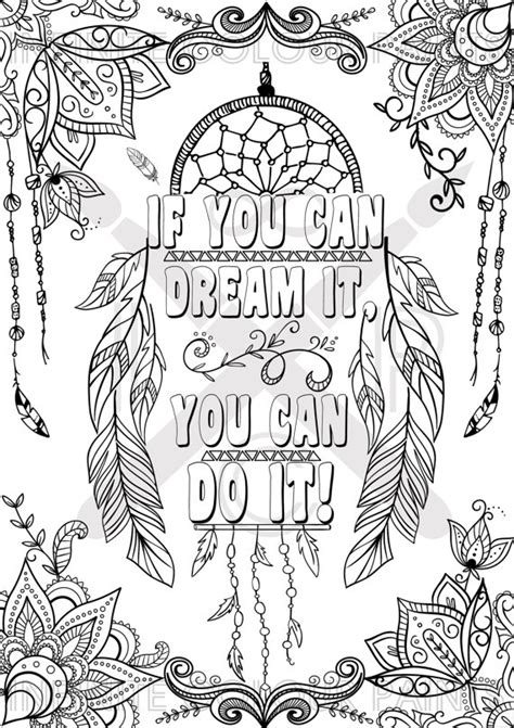 live your dreams an coloring book with inspirational quotes and adorable kawaii drawings books if you can it you can do it coloring page