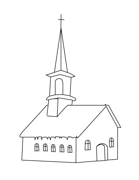 sketchbook untuk gingerbread church outline coloring pages