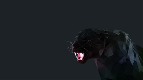 wallpaper poly cat black panther cat low poly wallpaper no 385772