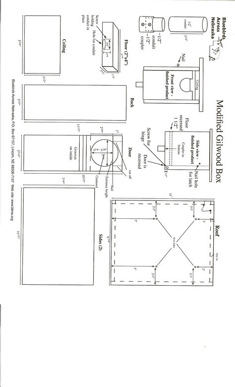 gilbertson bluebird house plans nestbox plans