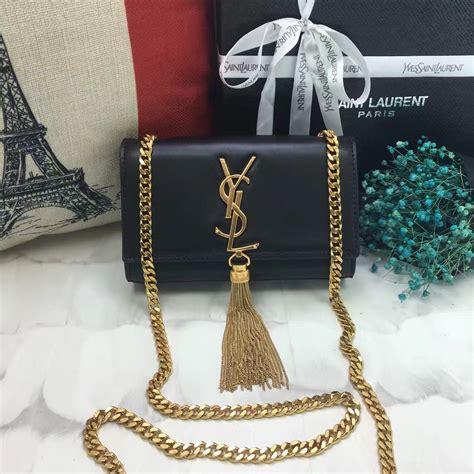 Ysl Black Pouch 17 X 12 Cm ysl small tassel chain leather bag 17cm black ysl2017