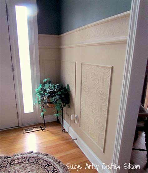 Wainscoting Textured Walls by Using Paintable Textured Wallpaper To Create A Whole New Look