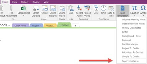 onenote project management templates how to adopt onenote templates for project management