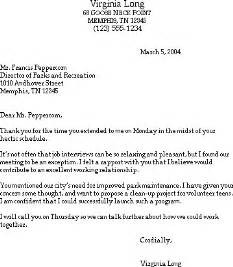 Resume Thank You Letter Exle by Sle Thank You Letter After A Susan Ireland Resumes