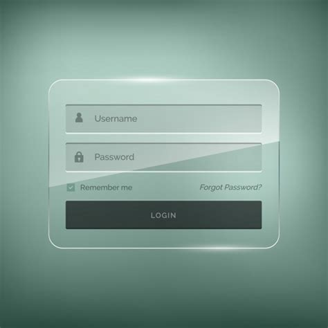 Php Login Templates Free by Login Template With Brightness Effect Vector Free