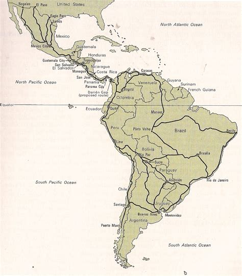 map of the pan american highway pan american highway