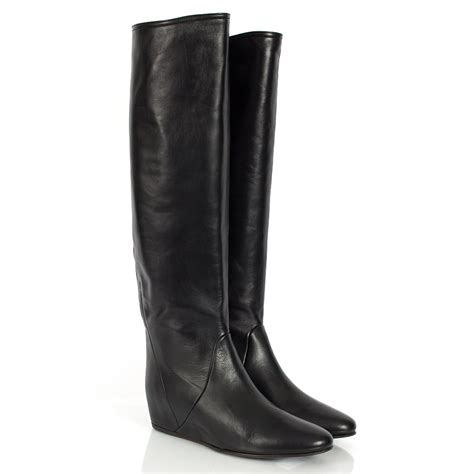 lanvin preveza knee high wedge boots