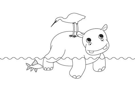 imagenes para colorear hipopotamo imprimir hipop 243 tamo dibujo para colorear e imprimir