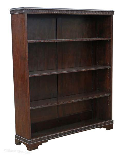 bookcase with adjustable shelves adjustable oak bookcase display shelves c1920 antiques atlas