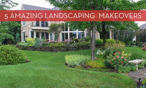 roundup  yard landscaping makeovers curbly diy