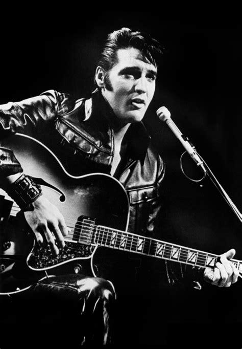 Home Decore Items by Elvis Presley Vintage Black Leather Guitar Canvas Art