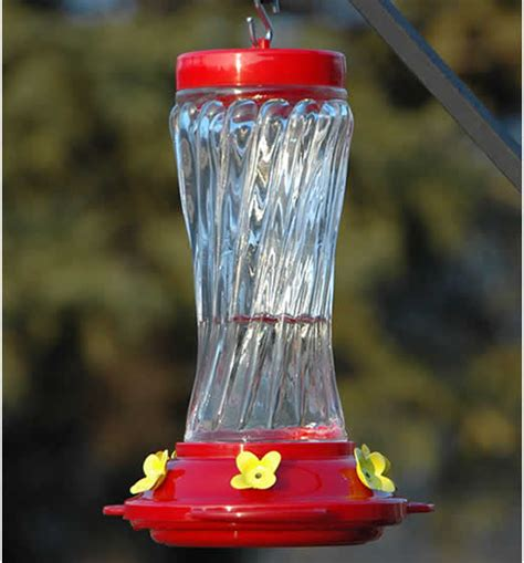Duncraft Hummingbird Feeder duncraft 16 oz swirl glass hummingbird feeder