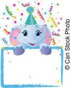 clipart compleanno bambini bambino compleanno elefante carino molto