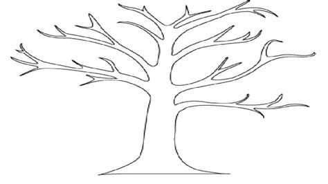 printable tree without leaves coloring for kids tree tree without leaves coloring printable pages no kids