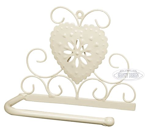 accessori bagno shabby porta carta igienica bagno cuore provenzale accessori