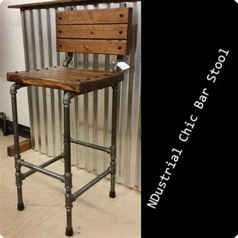 Galvanized Pipe Bar Stools by Black Steel Pipe Ndustrial Chic Bar Stool 125