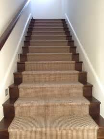 Wood On Stairs by Custom Wool Runner On Wood Stairs By Carpet Boutique
