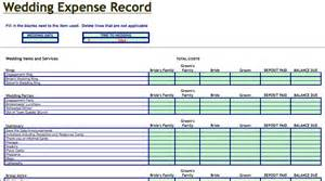 expense record template wedding expenses record template microsoft excel templates