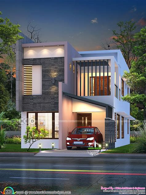 sq ft feet small ultra modern double storied house