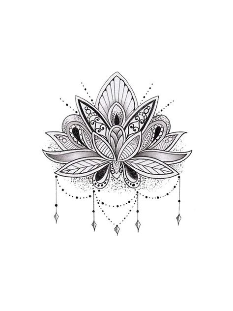 tattoo mandala zeichnen mandala lotus flower von mermaidnatalie tattoo ideen