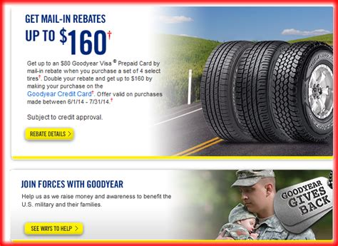 goodyear tire rebate and coupons for february 2018