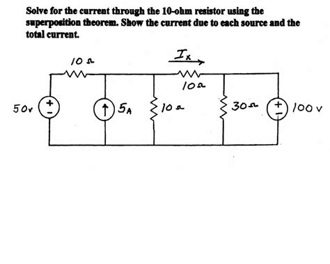 what is the current through a 10 ohm resistor connected to a 120 v power supply solve for the current through the 10 ohm resistor chegg