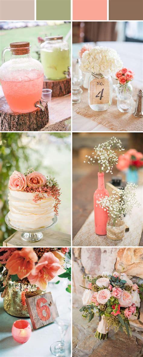 top 10 and chic rustic wedding color ideas stylish wedd