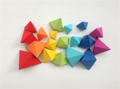 How To Make A Paper Rainbow - origami bipyramid tutorial what to do with them mr