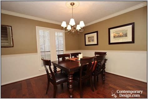 Dining Room Paint Color Ideas With Chair Rail Dining Room With Chair Rail