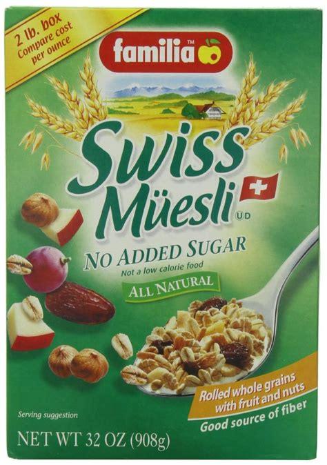Original Swiss Muesli No Added Sugar the top 44 best high fiber cereals fiber guardian