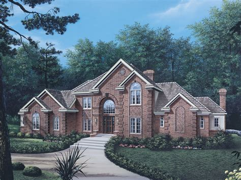 brick home plans briarcrest luxury two story home plan 006d 0002 house