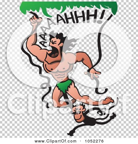 tarzan the monkey man swinging on a rubber band song royalty free vector clip art illustration of a monkey