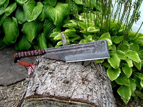 Red Kitchen Design Digs Fossils N Knives Custom Knives Amp Swords Dfnk