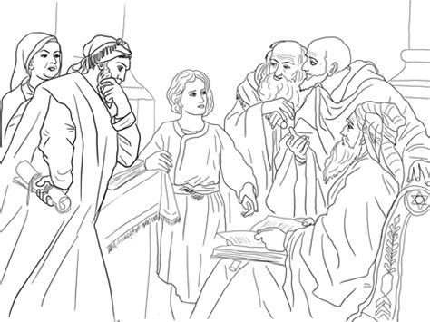 Jesus At The Temple As A Boy Coloring Page Free Boy Jesus In The Temple Coloring Page Free Printable by Jesus At The Temple As A Boy Coloring Page Free