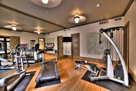 exercise room contemporary home other metro by