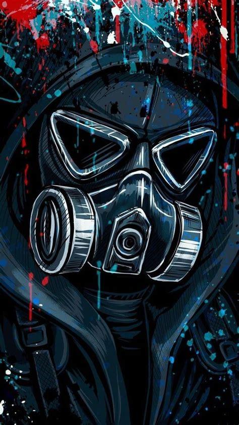 wallpapers share  gas mask art