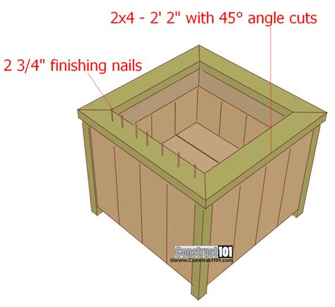 Attractive How To Build A Vegetable Garden Box #4: Planter-box-plans-top.png