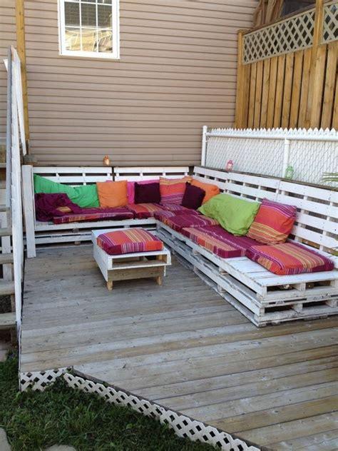 sofa paletten paletten sofa sitzkissen lounge bereich garten
